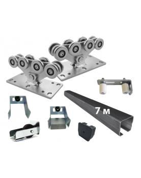 Комплект КАВ1-7 роликов и балок КАВ для откатных ворот до 500 кг