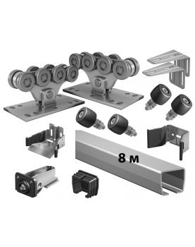 Комплект SGN 700-8 роликов и балок Alutech для откатных ворот до 00 кг