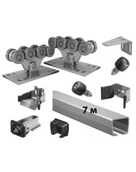 Комплект SGN 700-7 роликов и балок Alutech для откатных ворот до 700 кг