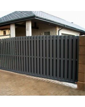 Комплект откатных ворот 4000х2000 мм из евроштакетника